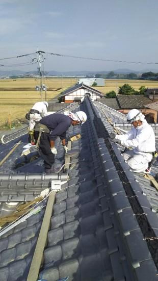 福岡県での復旧工事の様子