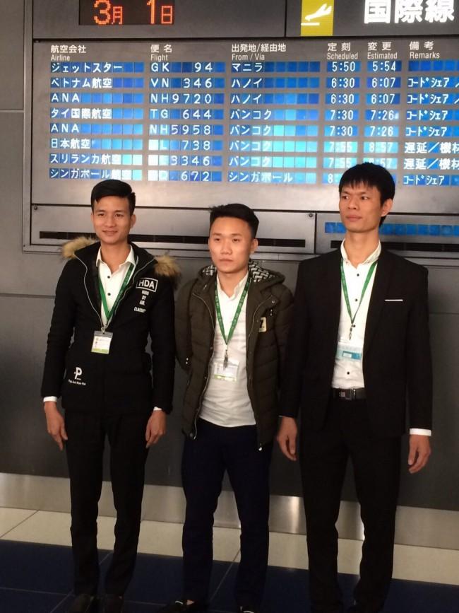実習生が入国しました。